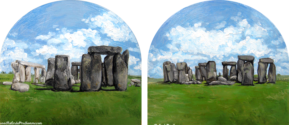 stonehenge, stonehenge painting, travel, travel art, travel painting