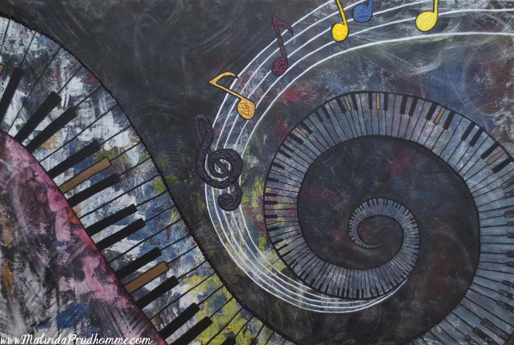 Abstract Music Notes Art: Custom Abstract Art