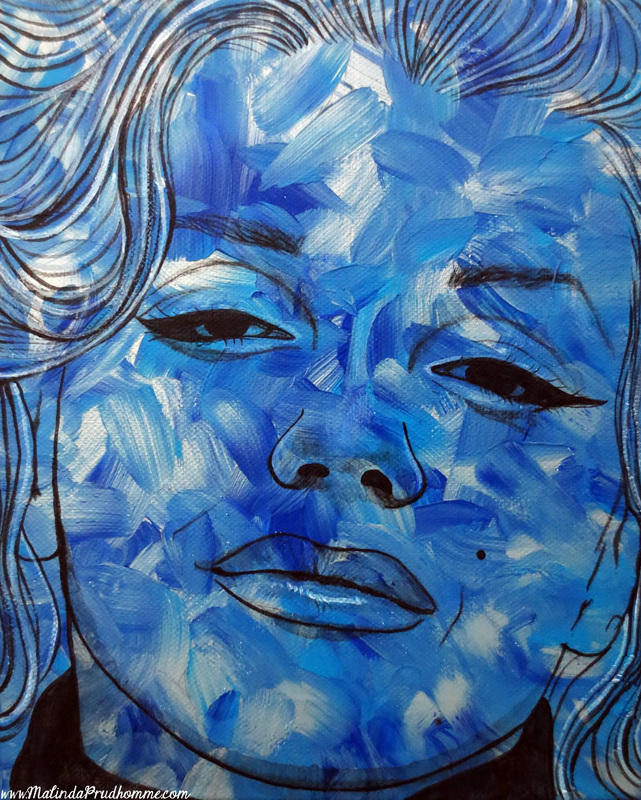 pop art, blue art, marilyn monroe, custom artwork, portrait art, pop portrait