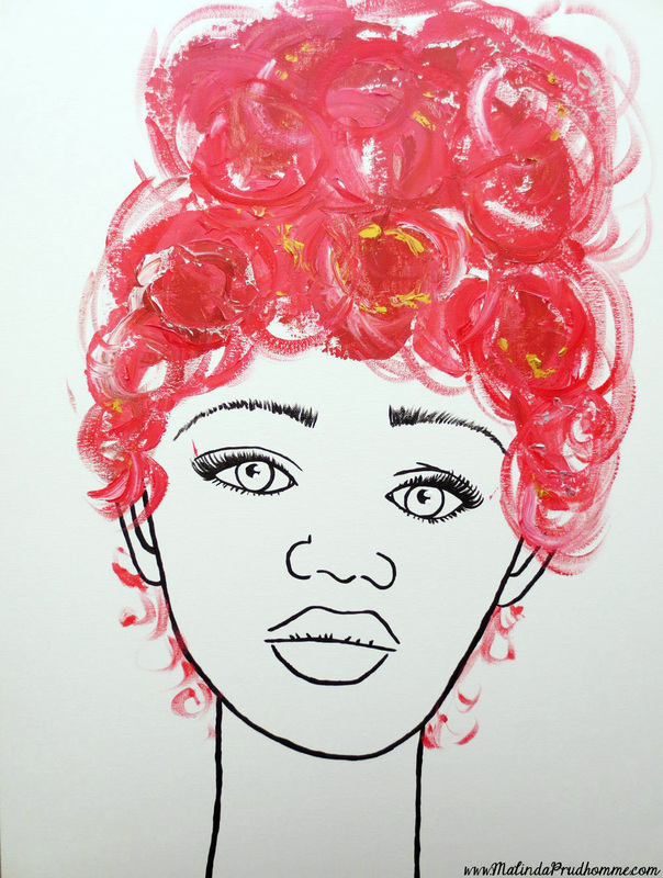 blue, speed painting, pink art, portrait pop art