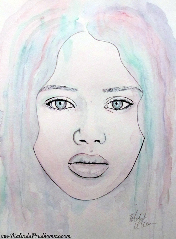 mixed media artist, mixed media art, watercolour artist, beauty