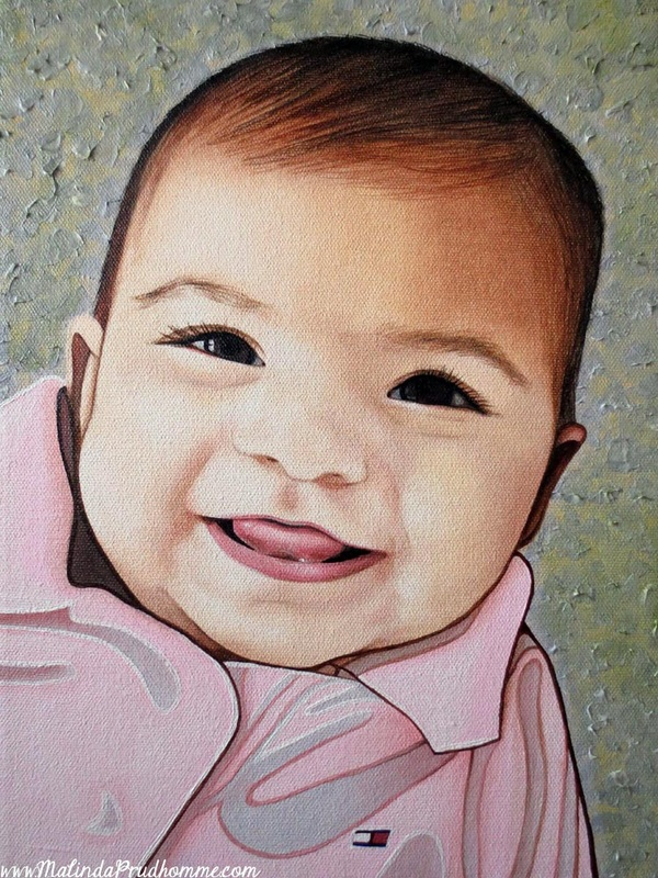 baby portrait, baby painting, baby art, portrait artist, toronto portrait artist, canadian portrait artist, portrait painting, portrait art, realistic portraiture, custom baby painting