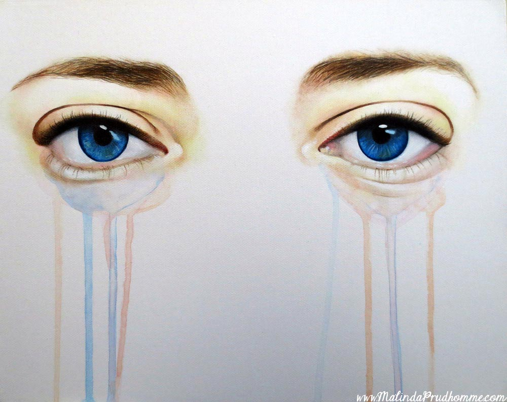 eye painting, custom art, custom eye art, drippy eyes, original artwork