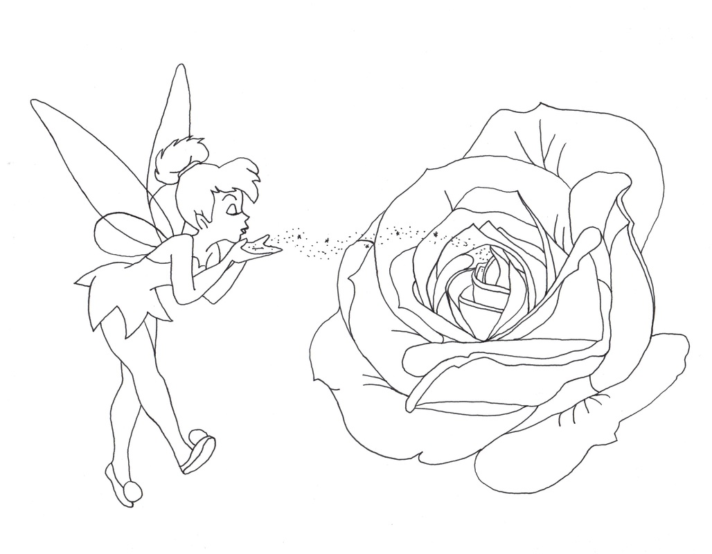 tinkerbell, flower, disney, tinkerbell tattoo, tink tattoo, tinkerbell tattoo design, tink tattoo design