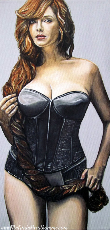 curvy beauties, toronto portrait artist, canadian portrait artist, beauty art, toronto artist, figurative art, realistic painting, christina hendricks