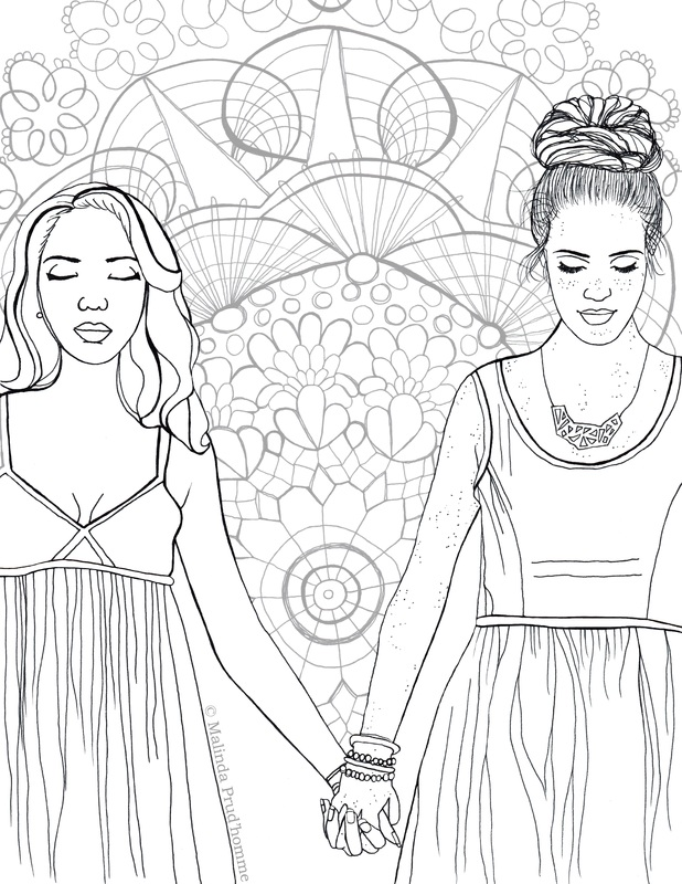 colouring contest, colouring page, beauty, love, gay, gay women, gay couple, gay love, pride,